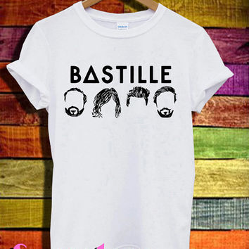BΔSTILLE shirt bastille band shirts tshirt t-shirt tee shirt printed white color unisex size