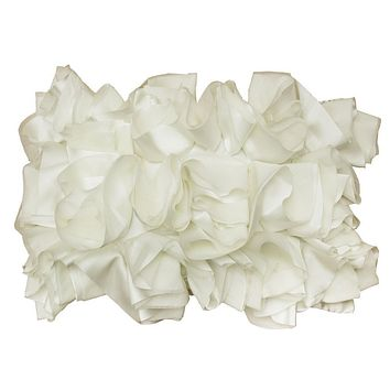 The Off White Ruffled Pillow