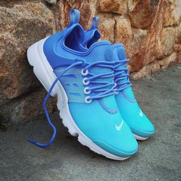 PEAPNW6 Sale Nike Air Presto Ultra BR Breathe Wmns Still Blue White Sport Shoes Running Shoes - 896277 400