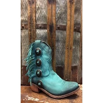 Liberty Black Janis Boot~ Turquoise