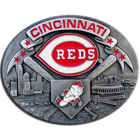 Cincinnati Reds MLB Enameled Belt Buckle