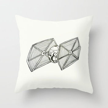 Star Wars Tie Fighter Throw Pillow by fantasizereality