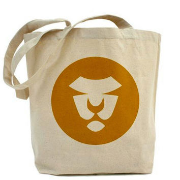 Gold Lion Tote Eco Fashion Art On Both Sides Circles Cats Mustard Gold Yellow Animals Kids Beach Shopping Book Bag School Bag Gym