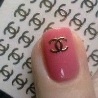 Chanel Nail Decals Stickers from bless-sed