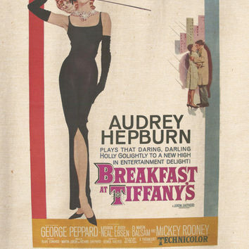 Classic Film Audrey Hepburn Breakfast at Tiffany's T-Shirt Tee Organic Cotton Vintage Look Size S M L
