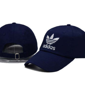 Navy Blue Adidas Women Men Sport Sunhat Embroidery Baseball snapback cap Hat