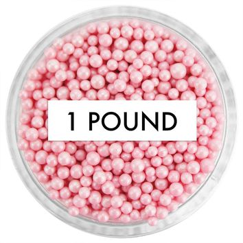 Pearly Pink Non-Pareils 1 LB