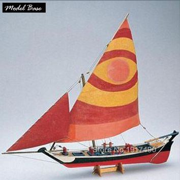 Wooden Ship Model Kits Train Hobby DIY Model Boats Wooden 3d Laser Cut Scale 1/50 Felucca 1887 Get external hull and deck wood