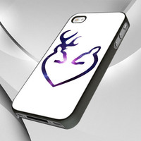 Browning Deer at Galaxy Nebula - Photo Design Cover For iPhone 4 or 4s and iPhone 5 case. Choose The Option.