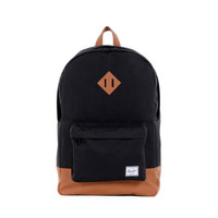 Herschel Supply Co. Heritage Backpack Black/Tan PU