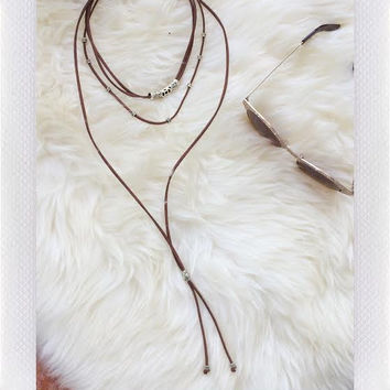 Bass Necklace- Brown