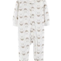Lamb Zip-Up Fleece Sleep & Play