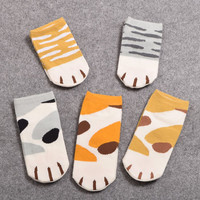 Girls Cute Cat Claw Style Short Ankle Socks Anime Neko Atsume Cosplay Props