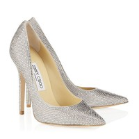 Pavé Crystal and Suede Pointy Toe Pumps | Cruise 2013 | JIMMY CHOO Shoes