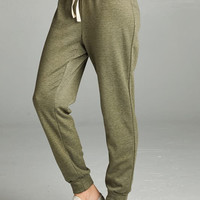 Olive French Terry Jogger Pant