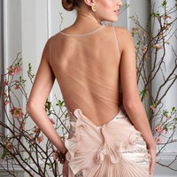 Amazing See through Back Chic Custom Made Dress C1298