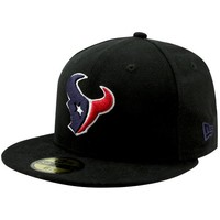 New Era Houston Texans Solid 59FIFTY Fitted Hat - Black