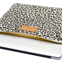 Kayond®Cute Leopard's Spots Style Canvas Fabric Ultraportable Neoprene 13-13.3Inch Laptop / Notebook Computer / MacBook / MacBook Pro / MacBook Air Sleeve Case Bag Cover