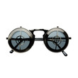 Steampunk Fashion Vintage Flip Up Lens Metal Round Sunglasses R1950