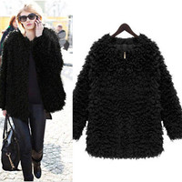 Faux Fur Loose Coat