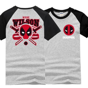 2017 summer new fashion funny t shirts brand clothing deadpool t shirt men hip hop raglan sleeve tops streetwear tee shirt homme