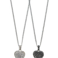 Judith Jack Reversible Pave Heart Delicate Pendant Necklace