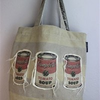 Andy Warhol Tomato Soup Can Tote Bag - Canvas