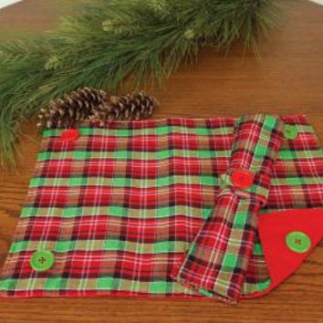 12 Holiday Placemats - Reversible