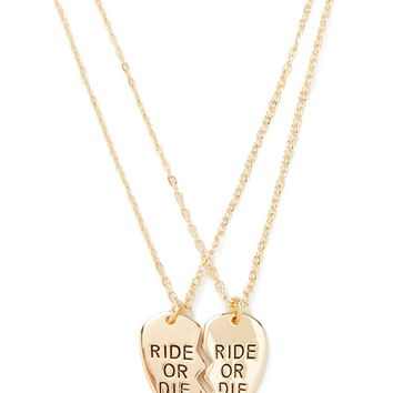 Ride or Die Necklace Set