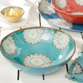 ELSA MEDALLION MELAMINE SERVE BOWL