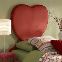 A.M.B. Furniture & Design :: Childrens Furniture :: Kids bed sets :: Red Heart Upholstered Twin Size Headboard