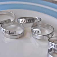 Set of 12 family napkin rings, personalized, fun party set
