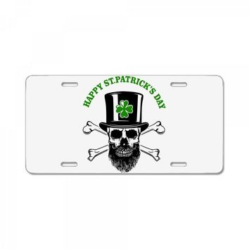 happy saint patrick day skull License Plate