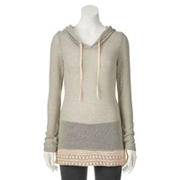Miss Chievous Juniors' Striped Hatchi Hooded Top, Size: