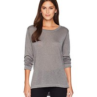 Nally & Millie Long Sleeve High-Low Tunic with Side Slits