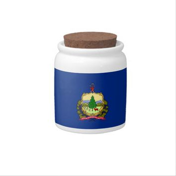 Vermont State Flag Candy Jar