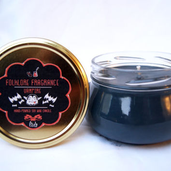 ON SALE! Vampire - Mythology Inspired Scented Soy Candle (Victorian Rose & Ink)