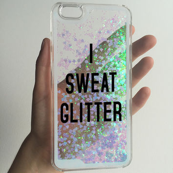 I SWEAT GLITTER phone case