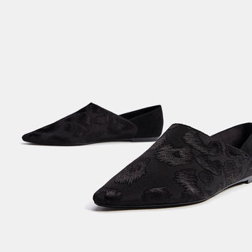 Brocade flats - SHOES - Bershka United Kingdom