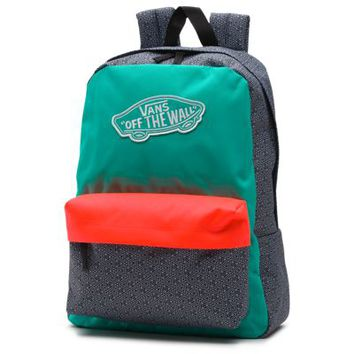 Vans Geo Realm Backpack (Cockatoo/Hot Coral)