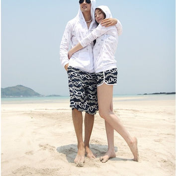New arrival Fashion Leisure Mens Womens Lovers Swimming Beach Surf Board Swim Shorts Trunks Pants 2 pairs = 1705169668