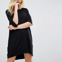 ASOS Oversize T-Shirt Dress with Seam Detail at asos.com
