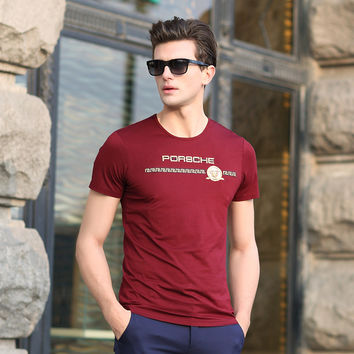 Summer Men Round-neck Tops Pullover Stylish Casual T-shirts [6543955395]