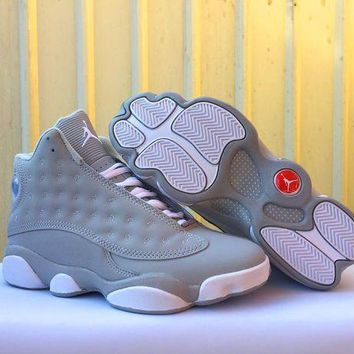 Air Jordan 13 Retro AJ13 Gray Basketball Shoes us5.5-13
