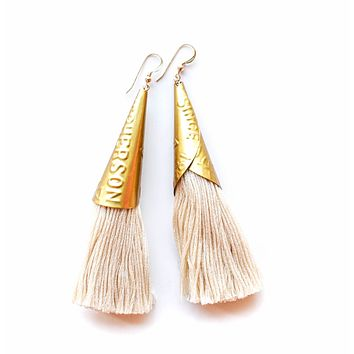Often Wander - Jingle Earrings | Cream