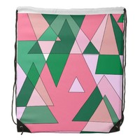 Retro Triangle Abstract Backpack