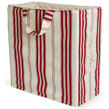 """Dry Clean"" Tote, Red Stripe, Laundry Bags"