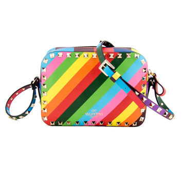 Valentino Multicolor Rockstud 1973 Camera Bag