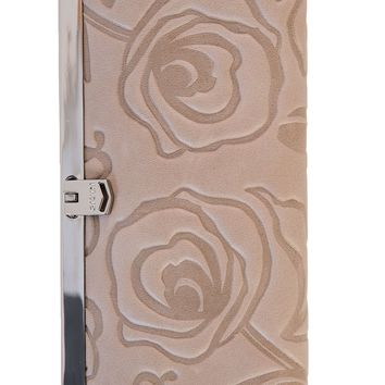 Rosa-Slim French Clasp Clutch Wallet-Taupe