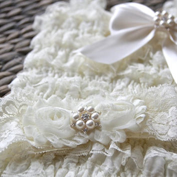Baby Romper and Headband Set, Ivory Lace Romper & Headband SET, petti romper, baby headband, flower headband, Christening, Baptism